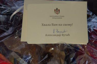 Od predsednika u znak zahvalnosti